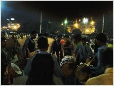 Dhaki of Bengal Durga Puja in Sealdah Station