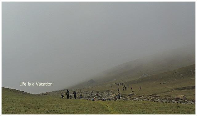 Kashmir-Harmukh- Walking in Mist