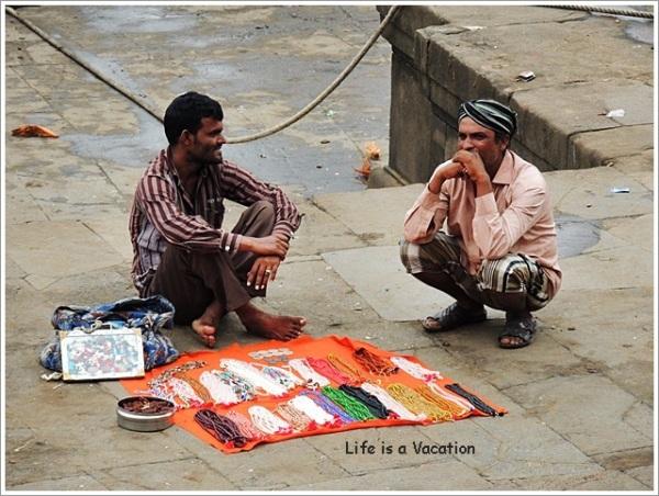 Maheshwar Bead Seller by Narmada