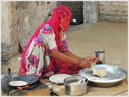 Jodhpur Village Tour Roti Making