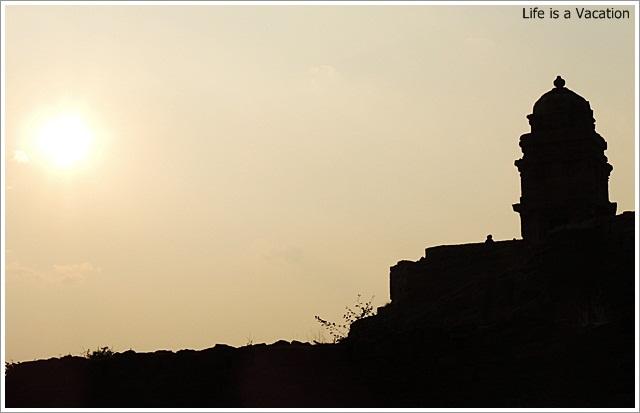 Badami Fort Trek Sunset Shivalaya